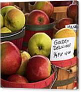 Market Apples Canvas Print
