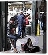Market Busker 2 Canvas Print