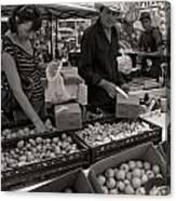 Market Days Choices Canvas Print