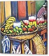 Market Merchant Of Granada Canvas Print