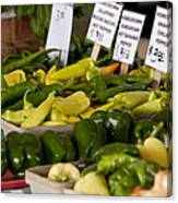 Market Peppers Canvas Print