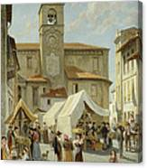 Marketday In Desanzano  Canvas Print