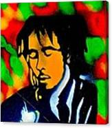 Marley Rasta Guitar Canvas Print