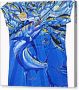 Marlin Ladies Shirt Canvas Print