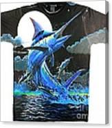 Marlin Moon Mens Shirt Canvas Print