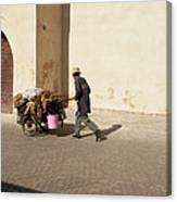 Marrakech Old Town Street Life Canvas Print