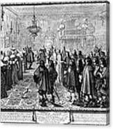 Marriage Contract, 1645 Canvas Print