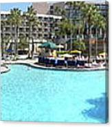 Marriott Hotel Swimming Pool Panorama Orlando Fl Canvas Print