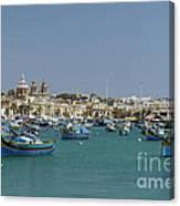 Marsaxlokk Harbour Canvas Print