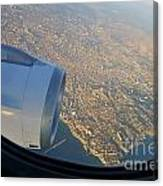 Marseille City From An Airplane Porthole Canvas Print