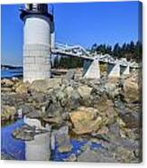 Marshall Point Light Reflection Canvas Print