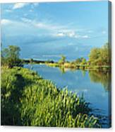 Marshlands In Spring, Unteres Odertal Canvas Print