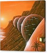 Martian Colony, Artwork Canvas Print