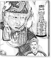 Martin Brodeur Sports Portrait Canvas Print