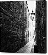 Martins Lane Narrow Entrance To Tenement Buildings In Old Aberdeen Scotland Uk Canvas Print