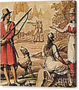 Mary Read And Anne Bonny, 18th Century Canvas Print