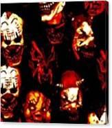 Masks Of Fear Canvas Print