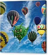 Mass Hot Air Balloon Launch Canvas Print