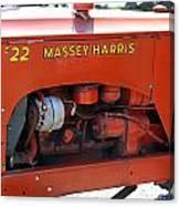 Massey Harris Details Canvas Print