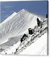 Massif Of Sancy In Winter. Puy De Dome. Auvergne Canvas Print