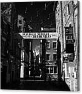 Mathew Street In Liverpool City Centre Birthplace Of The Beatles Merseyside England Uk Canvas Print