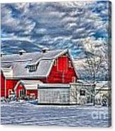 Matsqui Barn Hdr Canvas Print