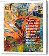 Matthew 5 Canvas Print