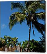 Maui Surfboard Fence - Oldest Section Canvas Print