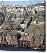 Mavromatis Pumice Quarry With Pier Canvas Print