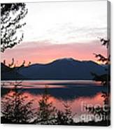 May Sunset On Kootenay Lake Canvas Print
