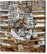 Mayan Architectural Details At Uxmal Mexico Canvas Print