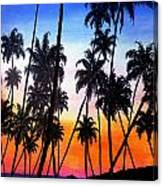 Mayaro Red Dawn Canvas Print