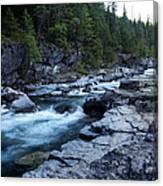 Mcdonald River Glacier National Park - 3 Canvas Print