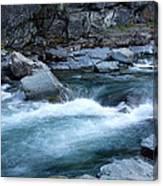 Mcdonald River Glacier National Park - 4 Canvas Print