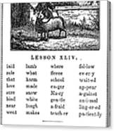 Mcguffeys Reader, 1853 Canvas Print