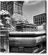 Mckinley Memorial In Black And White Canvas Print