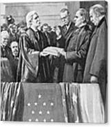Mckinley Taking Oath, 1897 Canvas Print