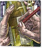 Measuring Alcohol Intake, Artwork Canvas Print