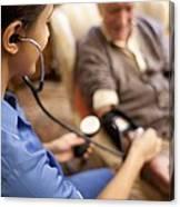 Measuring Blood Pressure Canvas Print