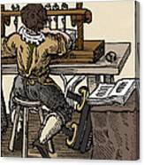 Mediaeval Book Manufacture Canvas Print