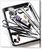 Medical Equipment On A Tray Canvas Print