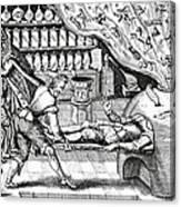 Medical Purging, Satirical Artwork Canvas Print