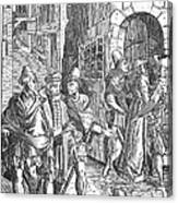 Medieval Prison, 1557 Canvas Print