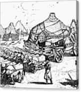 Medieval Tartar Huts Canvas Print