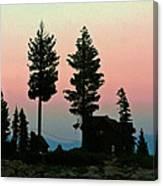 Meeks Bay Sunset. Canvas Print