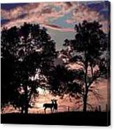 Meeting In The Sunset Canvas Print