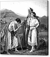 Meeting Of Jacob & Rachel Canvas Print