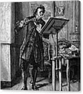 Meissonier: Flute Player Canvas Print