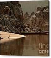 Mekong Landscape Laos Canvas Print