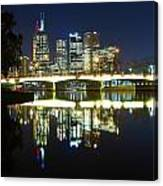 Melbourne Lights Canvas Print